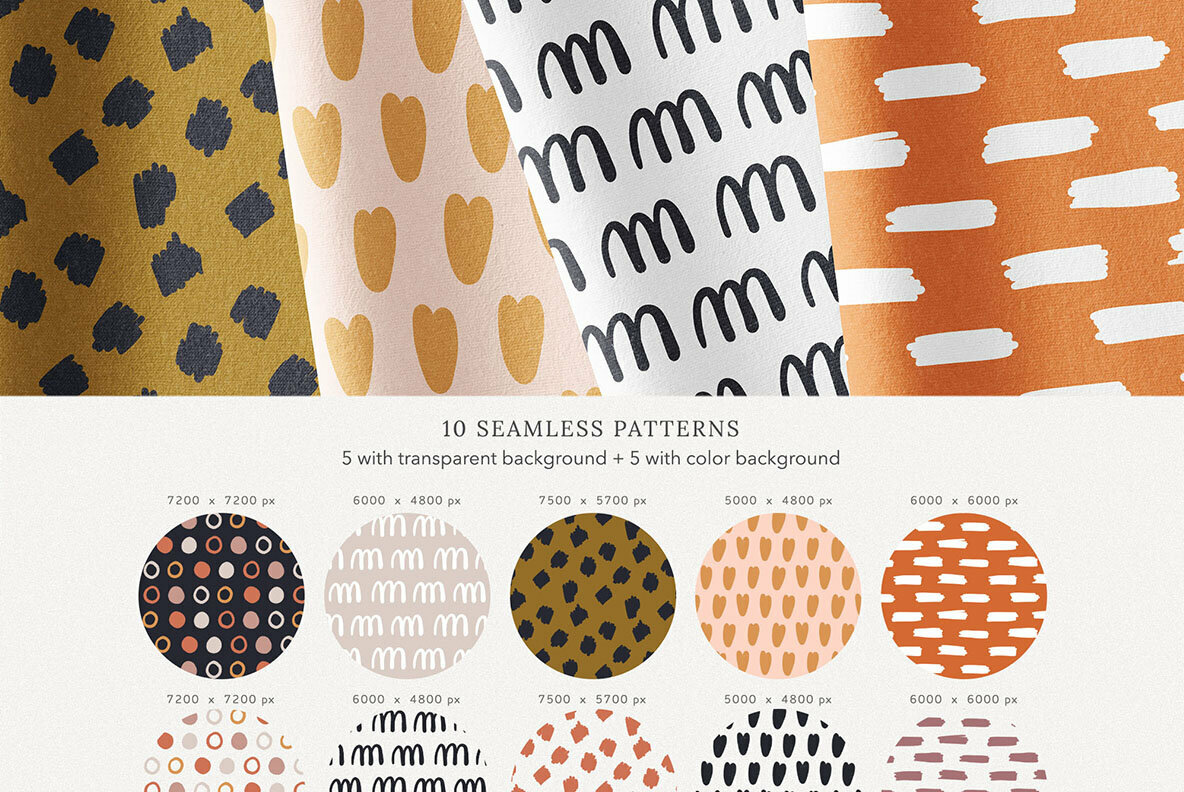Abstract Shapes Print Graphics Terracotta