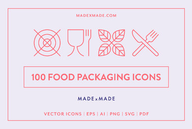 Food Packaging Line Icons