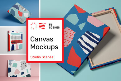 Canvas Mockups   Studio Scenes