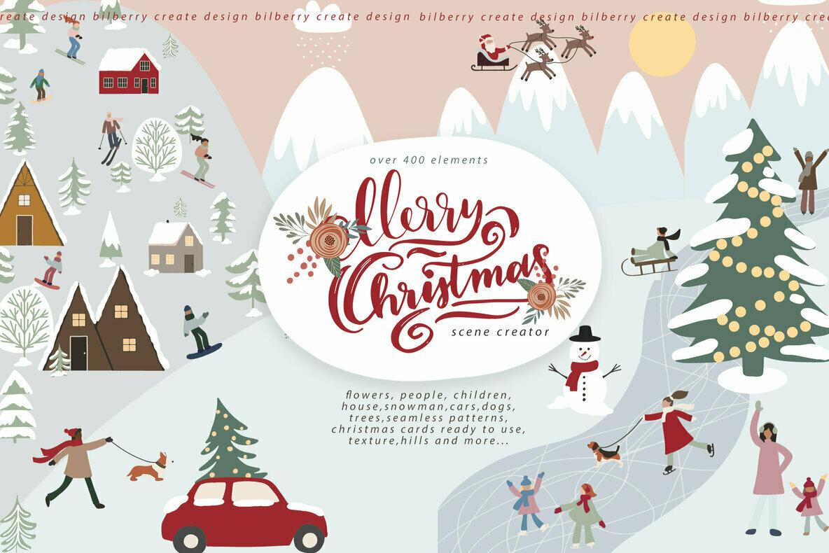 Merry Christmas Scene Creator