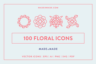 Floral Line Icons