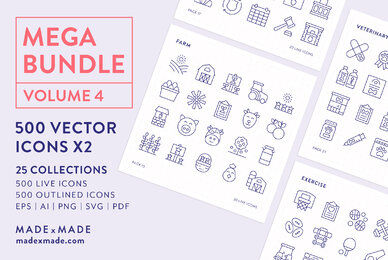 Mega Bundle Line Icons Vol 4
