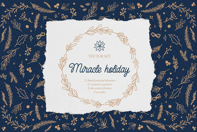Miracle Holiday Vector Set
