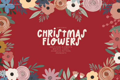 Christmas Flowers Art Set