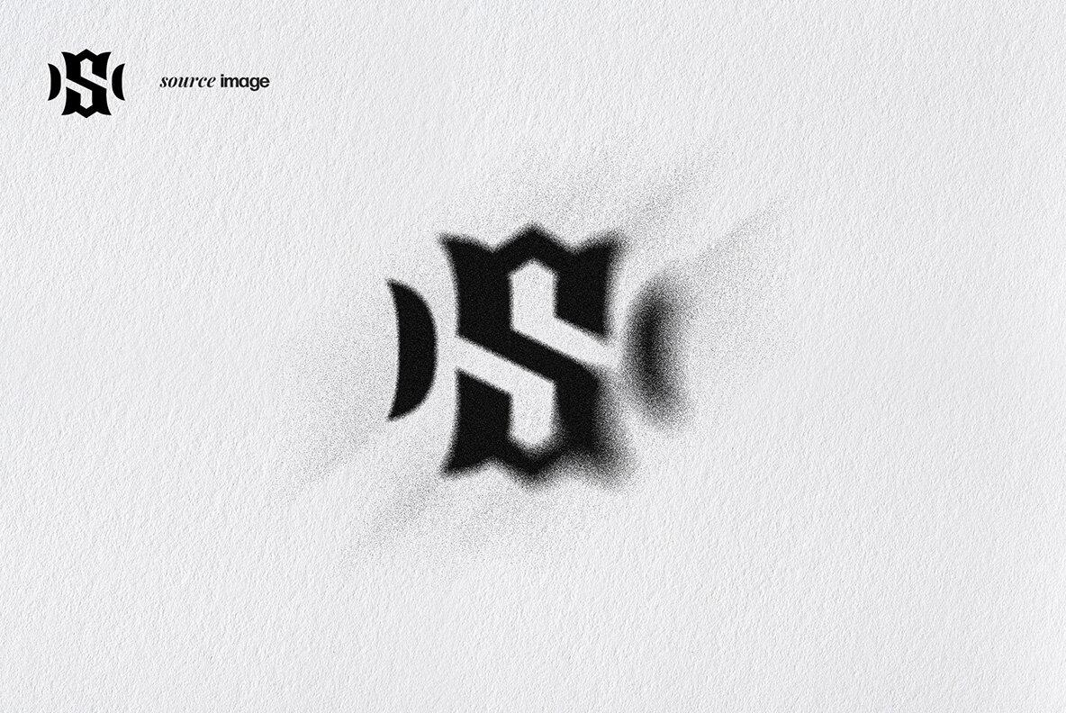 Spray Stencil Layer Style