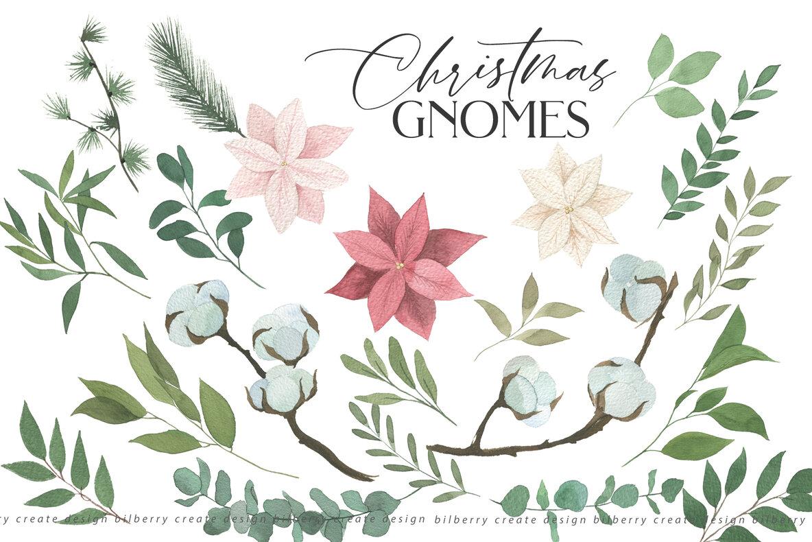 Christmas Gnomes Art Set