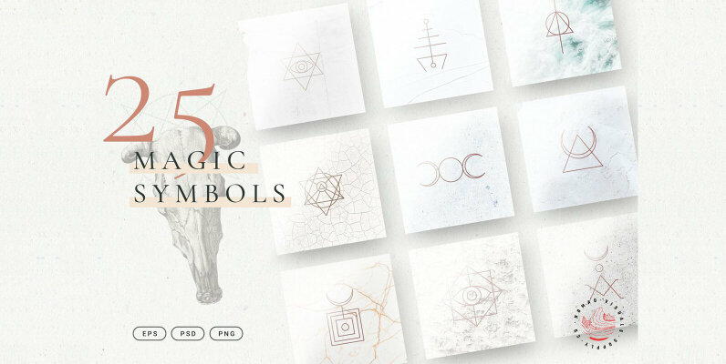 Minimalistic Magic Symbols