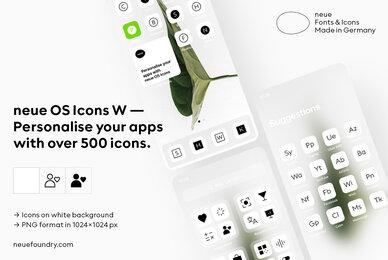 neue OS Icons W