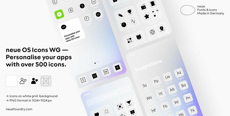 neue OS Icons WG