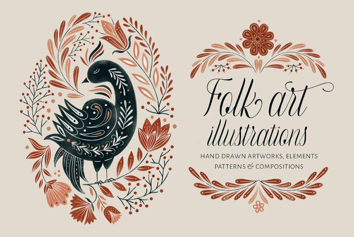Folk Art Illustrations