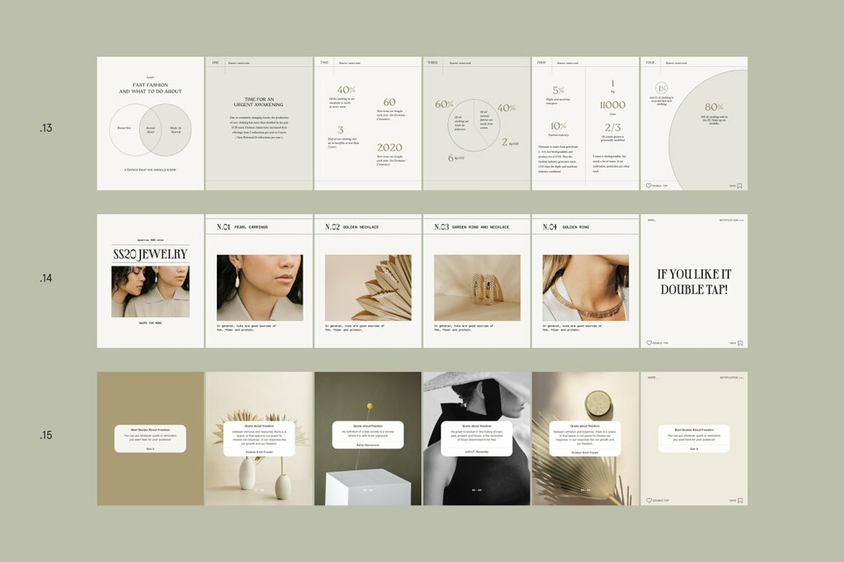 Sage Step by Step Carousel Templates