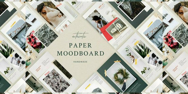 Paper Moodboard   Social Kit