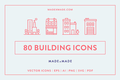 Buildings Line Icons