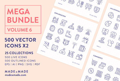 Mega Bundle Line Icons Vol 6