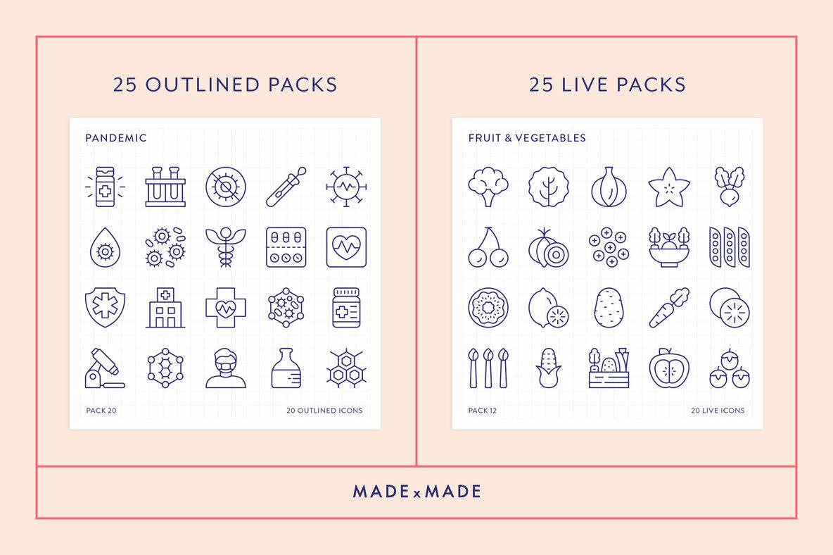 Mega Bundle Line Icons Vol 6
