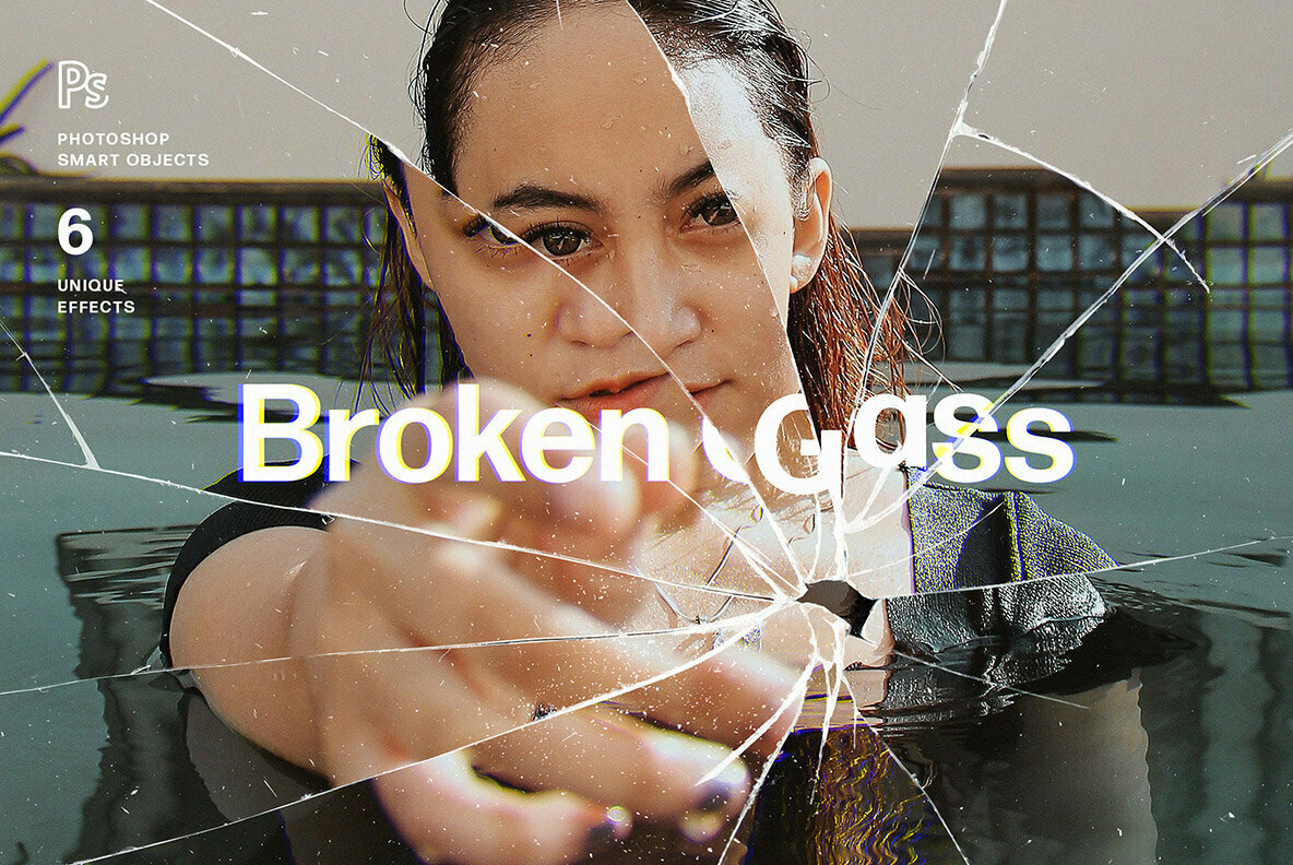 Broken Glass Photo Effect