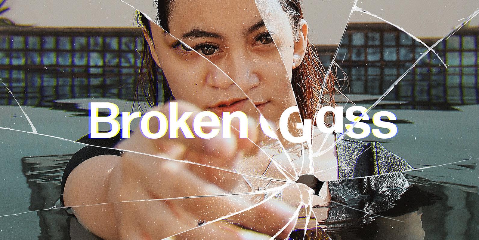 Broken Glass Photo Effect