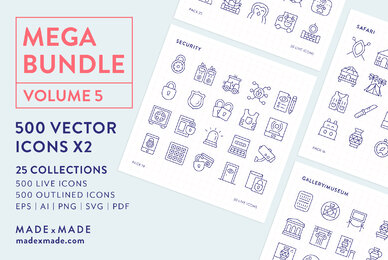 Mega Bundle Line Icons Vol 5