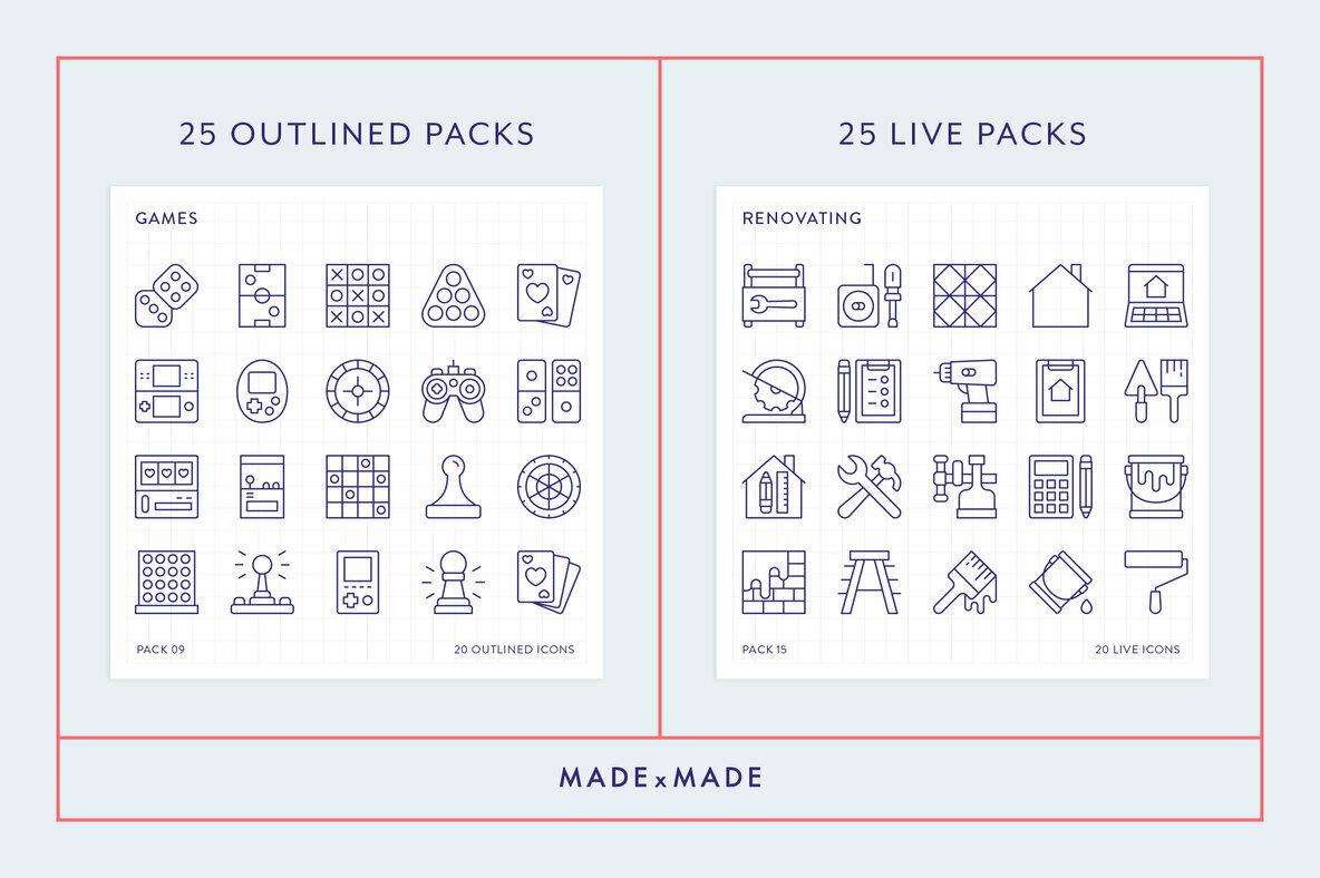 Mega Bundle Line Icons Vol 5
