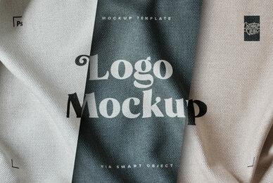 Fabric Print Logo Mockup