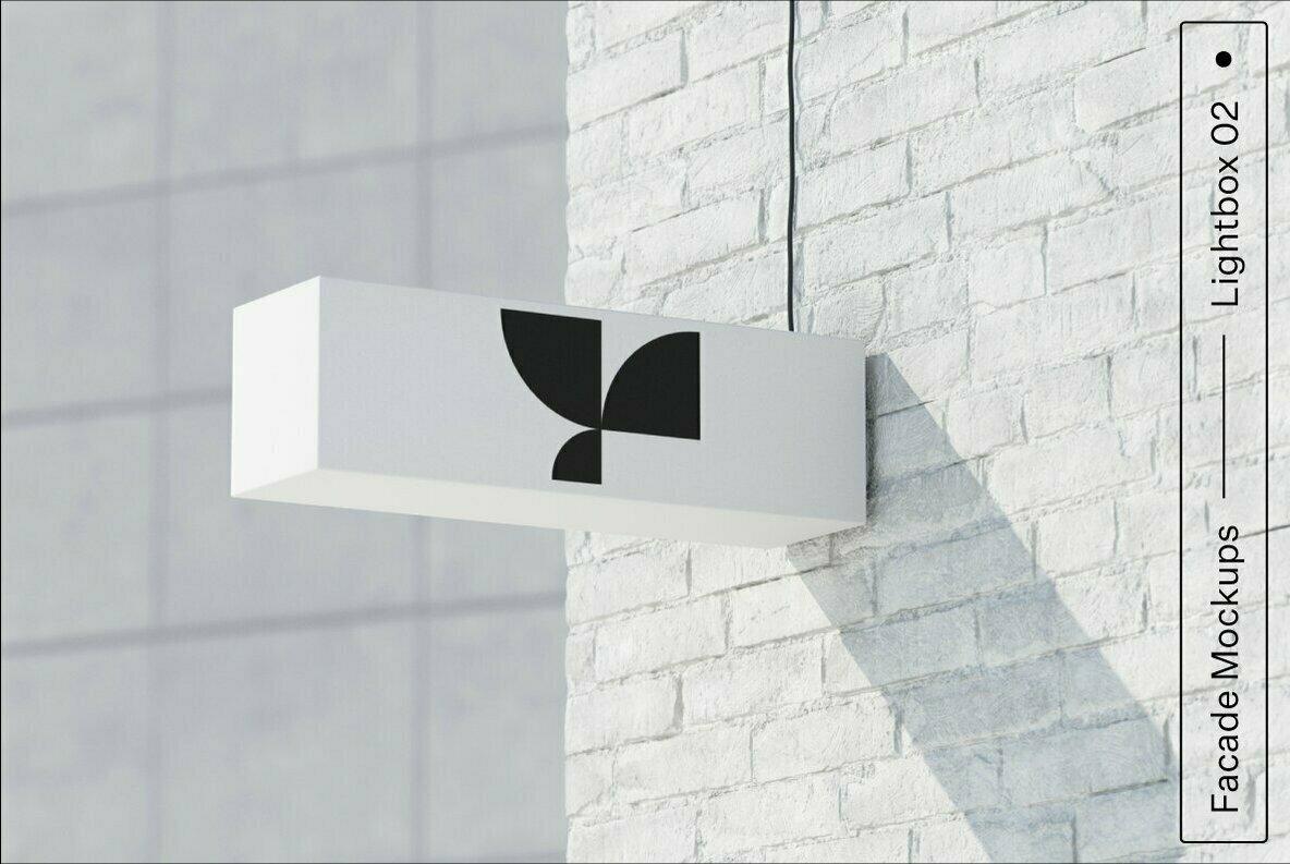 Lightbox 02 Facade Mockup