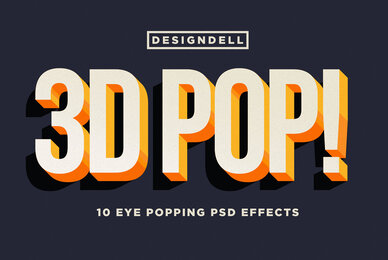 3D POP  Photoshop Effects