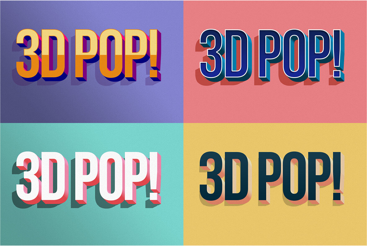 3D POP  Photoshop Effects