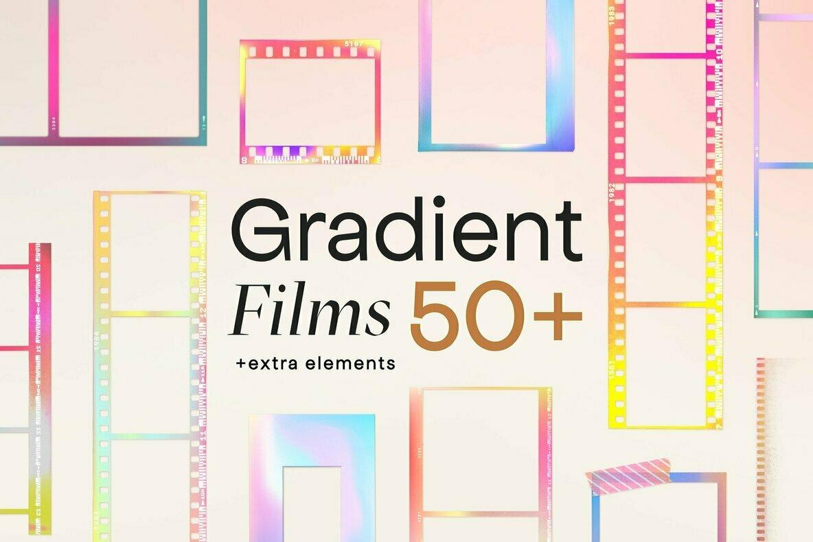 Gradient High Quality Film Frames