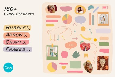 CANVA Elements Bubbles Arrows Frames