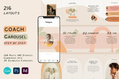Coach Carousel Templates CANVA PS