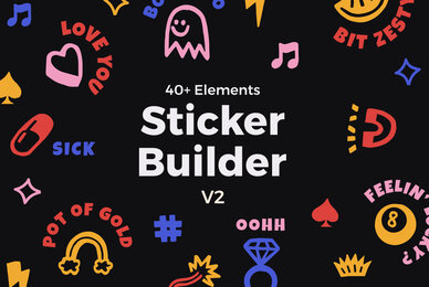 Sticker Builder Vector Set V2