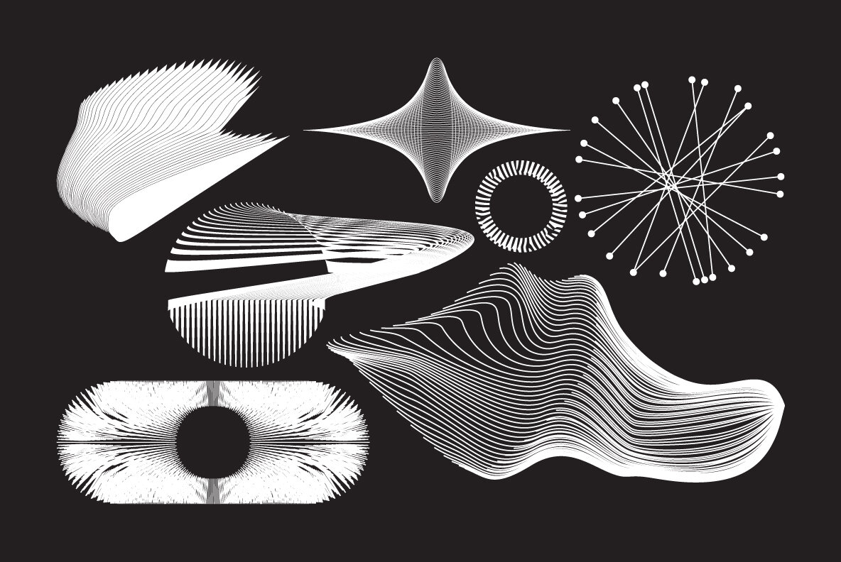 100Plus Abstract Vector Shapes