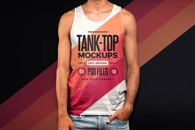 Men Tank Top Mockups