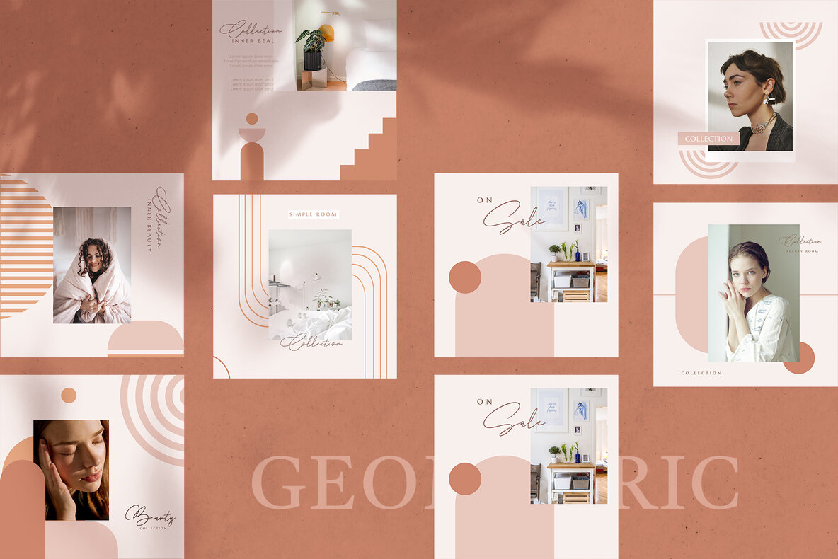 120 Instagram Post   110 Abstract Geometric Style