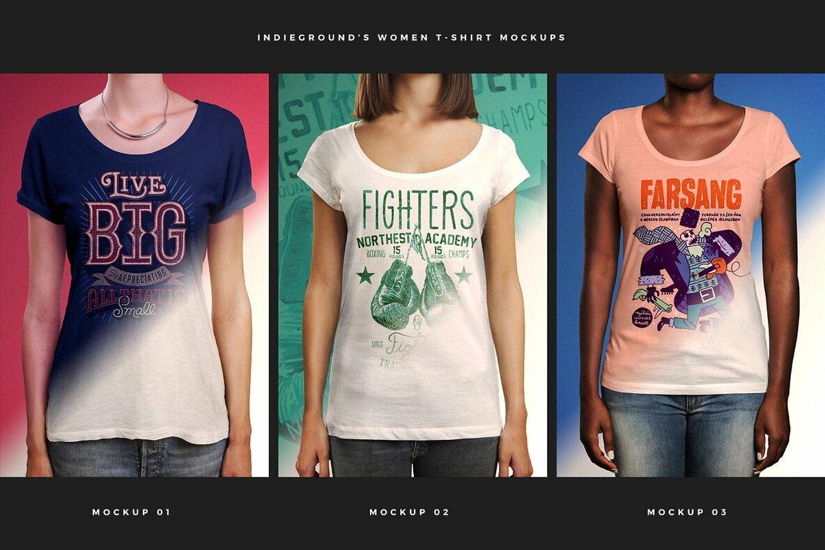 T Shirt Mockups Bundle