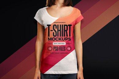 Women T Shirt Mockups