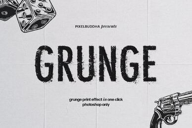 Grunge Print Effect for Photoshop