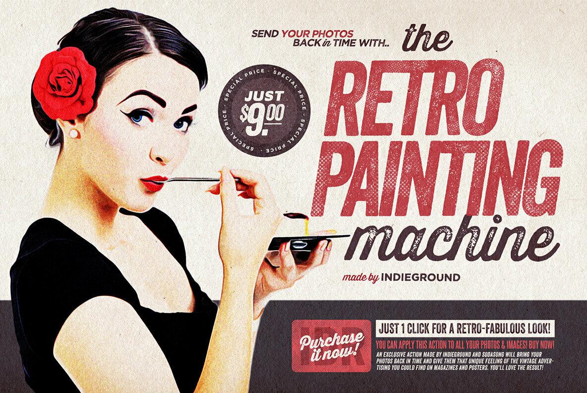 The Retro Painting Machine