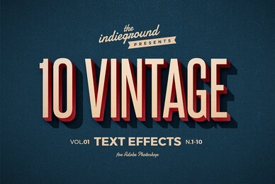 Retro Text Effects Vol 1