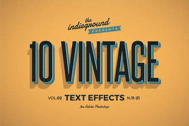 Retro Text Effects Vol 2