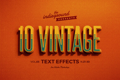 Retro Text Effects Vol 3
