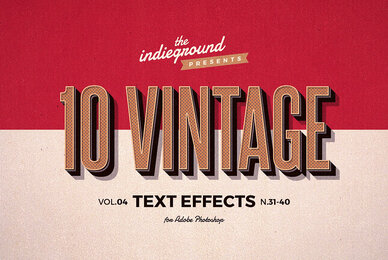 Retro Text Effects Vol 4