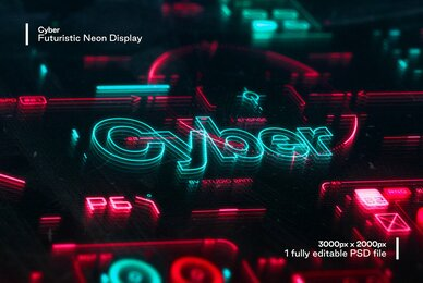 Cyber   Futuristic Neon Display
