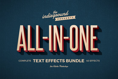 Retro Text Effects Complete Bundle