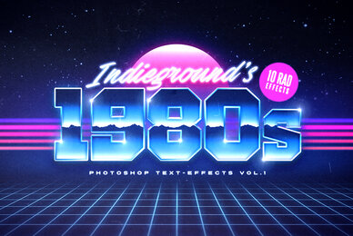 80s Text Effects Vol 1