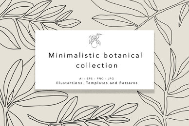 Minimalistic Botanical Collection