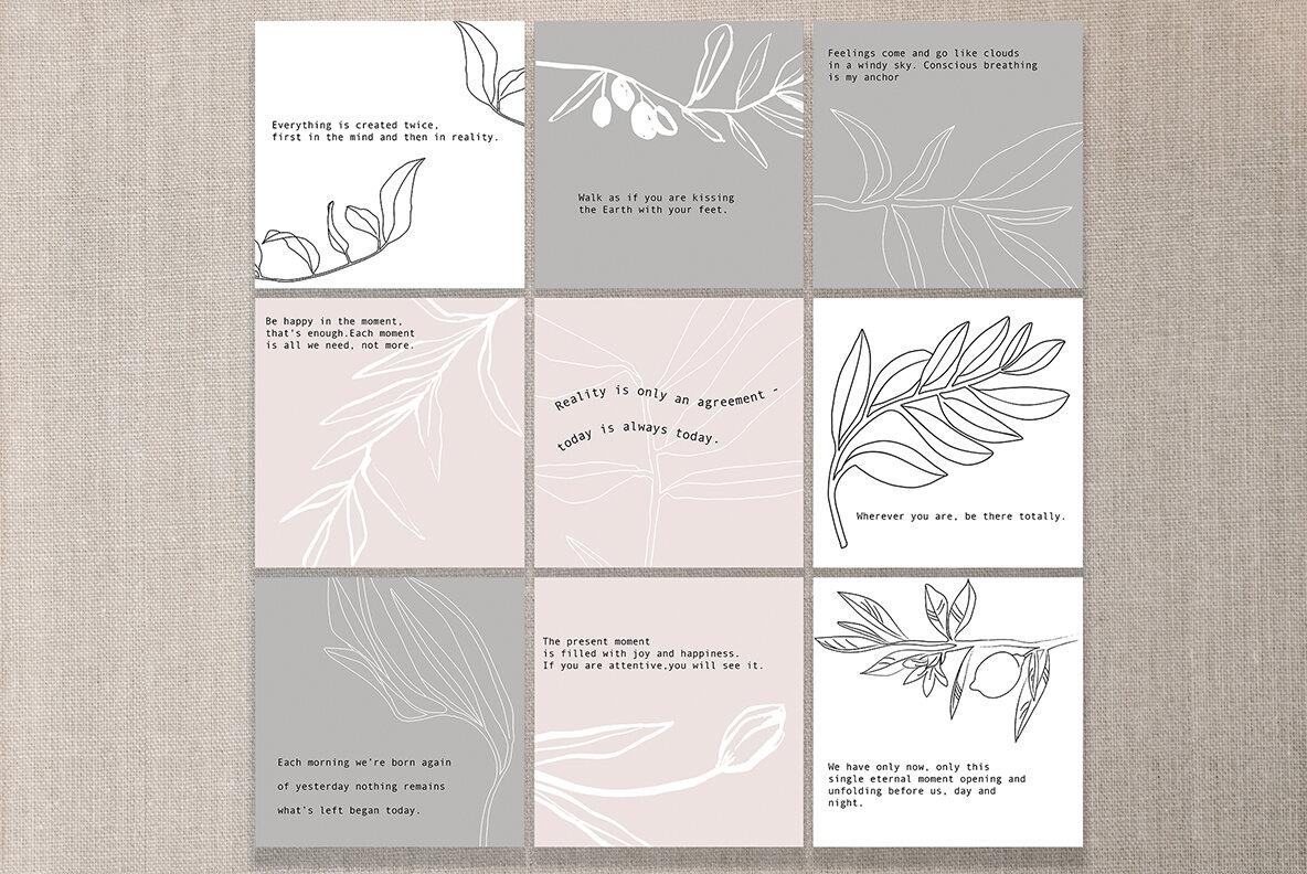 Minimalistic Botanical Collection