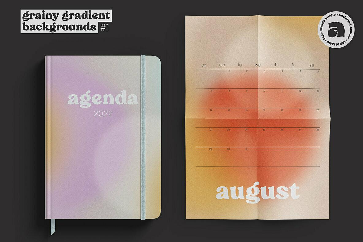 Grainy Gradient Backgrounds  1