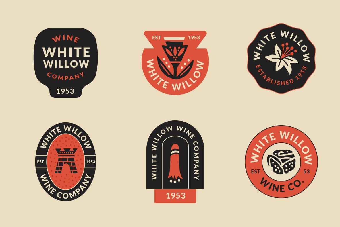 Abstract Linocut Badge Builder