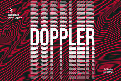 Doppler Distortion Text Effect